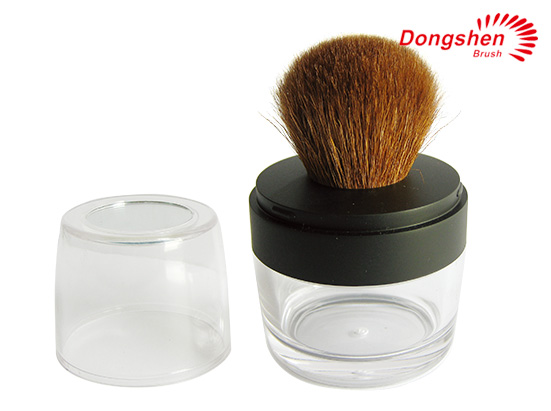 Goat Hair plastic powder Jar brush