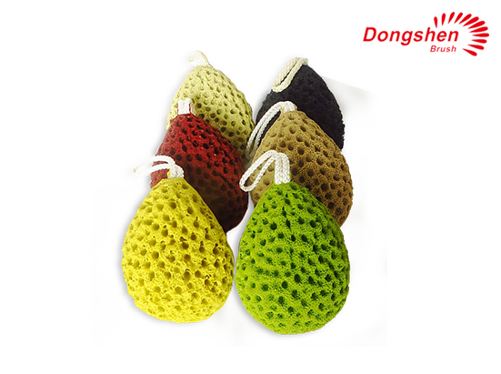 High Quality Colorful Teardrop Shape Bath Sponge