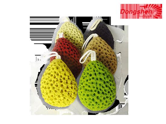 High Quality Colorful Teardrop Shape Bath Sponge