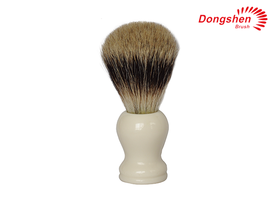 White Resin Handle&Silvertip Badger Hair Shaving Brush