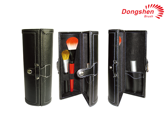 Professional Leather Cosmetic brush holder