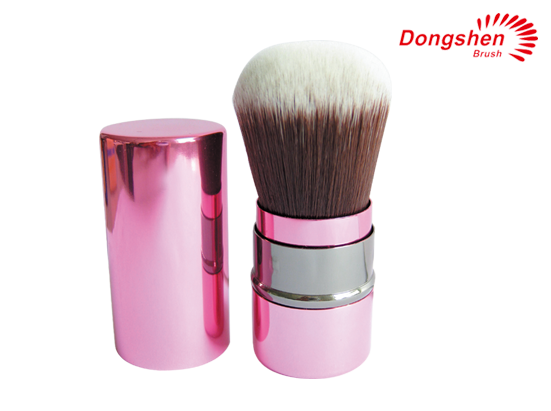 Synthetic hair Pink Retractable kabuki brush