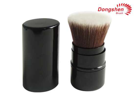 Flat top synthetic hair Retractable Kabuki brush
