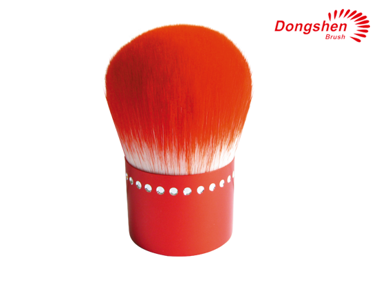Red synthetic hair Kabuki Brush