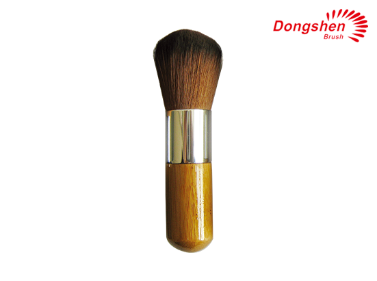 Synthetic hairwooden makeup brush