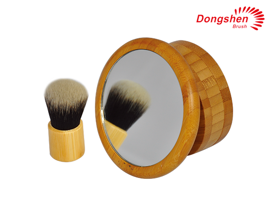 Hot selling bamboo soft synthetic hair kabuki brush