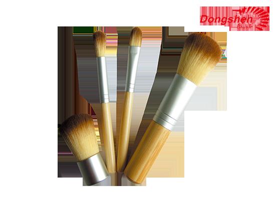 4pcs bamboo handle Travel Brush Set
