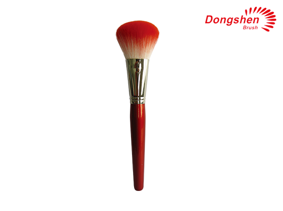 Red wood handle Blush Brush