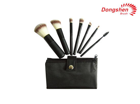 Professional 7pcs synthetic hair makeup brush set