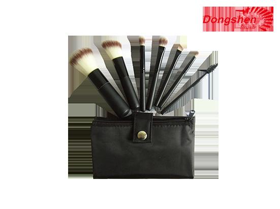 Professional 7pcs synthetic hair makeup brush set