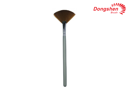 Fan Brush Wooden Handle Synthhetic Hair