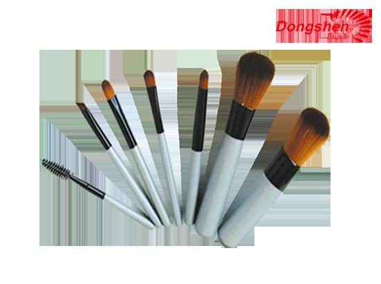 Synthetic hair 7pcs Travel Brush Set