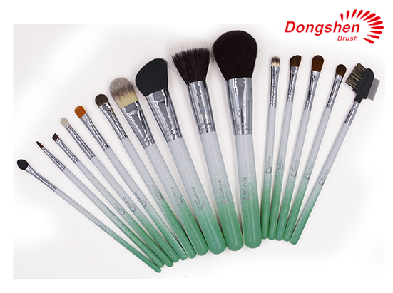 New style colorful handle makeup Brush Set 15pcs