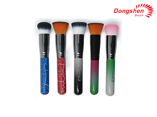 New style wooden handle synthetic hair powder brush