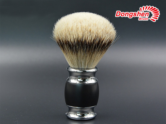 Silvertip badger hair metal handle shaving brush