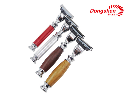 Three blades metal handle shaving razors