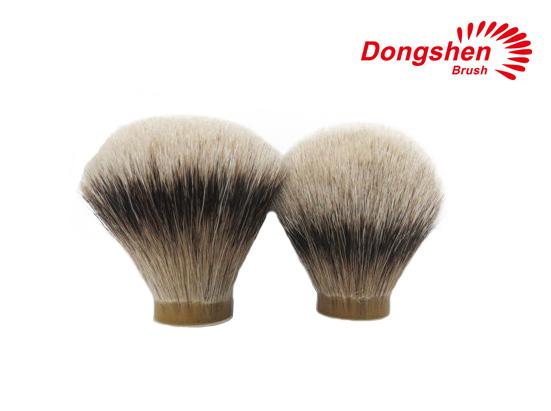 Fan Shape&Bulb Shape Silvertip Badger Hair Shaving Brush Knot