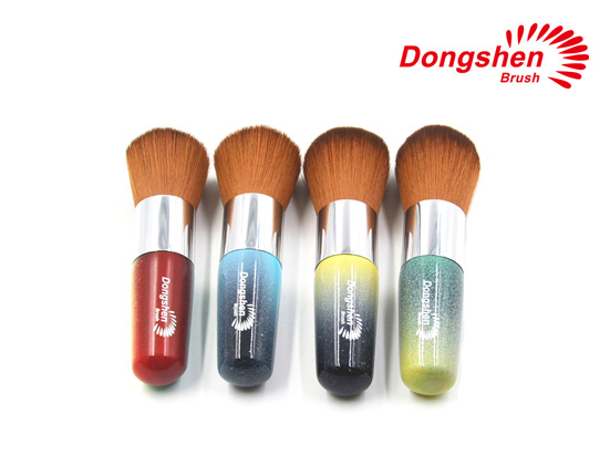 Colorful handle makeup powder brushes