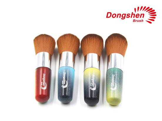Colorful handle makeup powder brushes