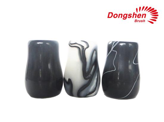 Black and white Resin shaving brush handle
