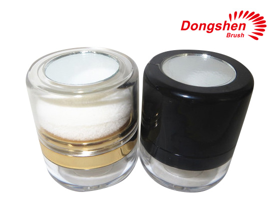 Empty Loose Powder Jar With Sifter And Puff