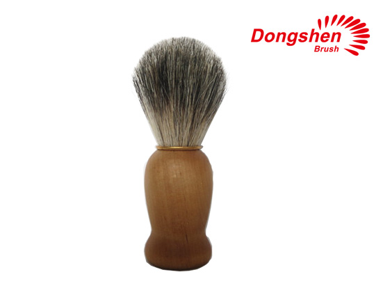 Wooden Handle With Pure Badger Hair Shaving Brush