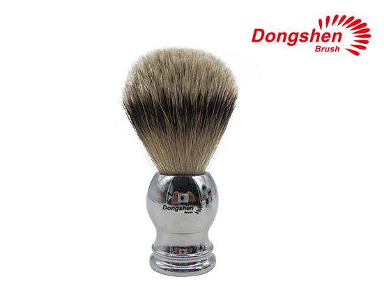 Metal Handle With Silvertip Badger Hair Shaving Brush