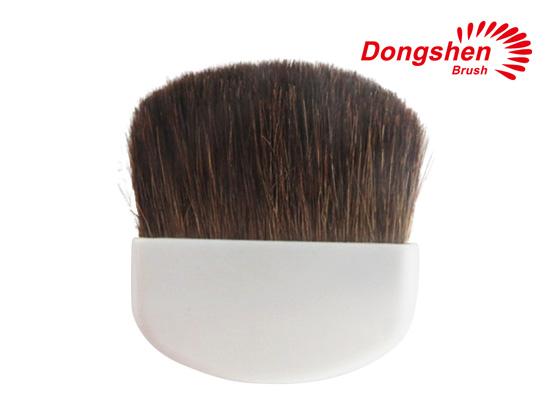 Horse hair white handle compact blush brush