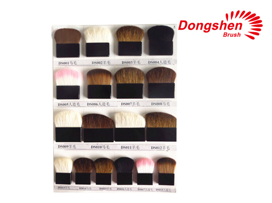 Square shaped differnt hair compact brushes
