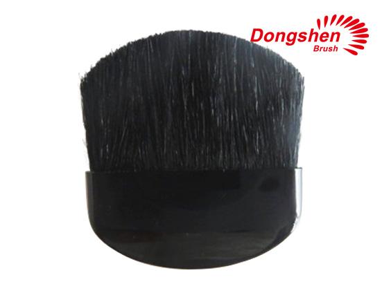 Goat hair black handle compact brush