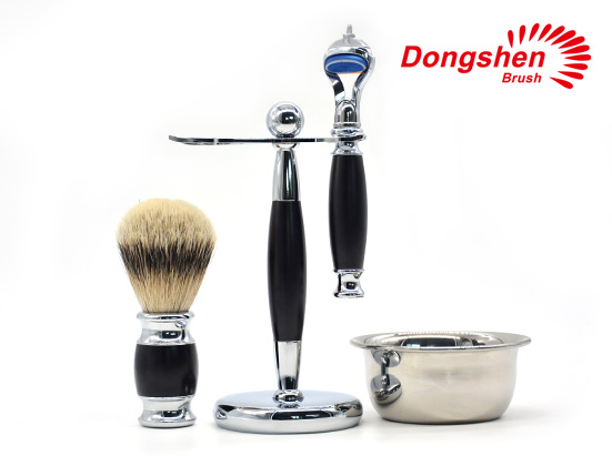 Hotsale Black Metal Shave Set With Bowl